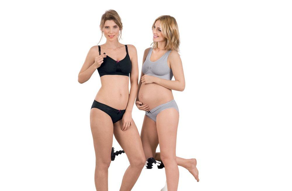 Anita Těhotenský top Seamless 5197 - Anita šedá s puntíkem S
