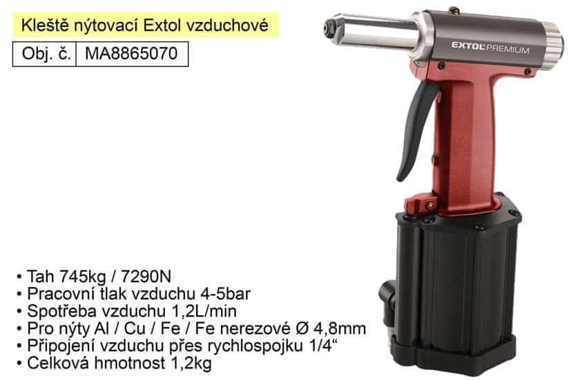 Extol Premium Kleště nýtovací Extol Premium vzduchové tah 745kg ( 8865070 )