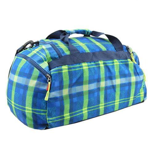 Target Docelowa torba podróżna, W kratkę, niebiesko-zielony