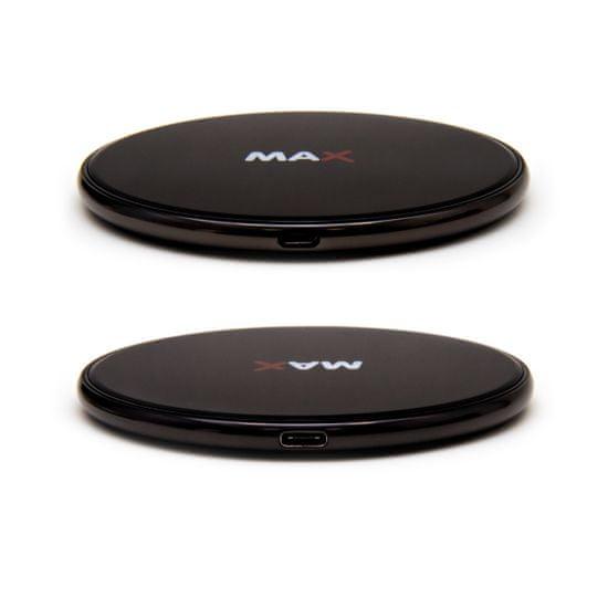 MAX Bezdrátová nabíječka 7.5W/10W/15W MPC1101B, černá