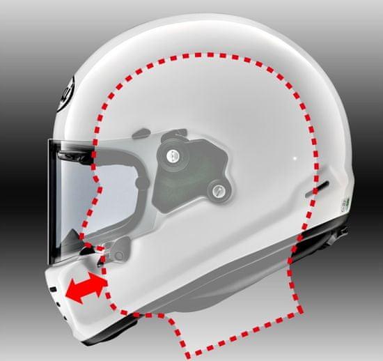 Arai concept-X Sports Red retro helma