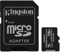 Kingston Micro SDXC Canvas Select Plus 100R 128GB 100MB/s UHS-I + adaptér (SDCS2/128GB)