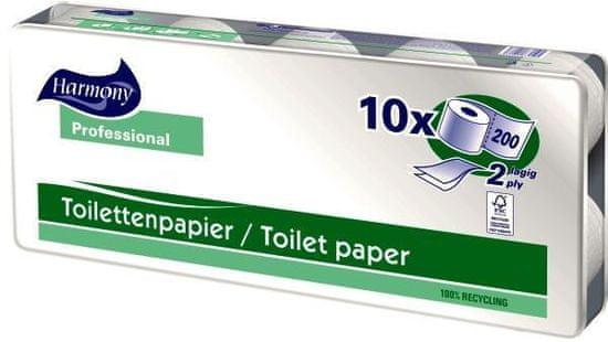 Harmony Professional Toaletní papír Harmony Professional 2vrstvy 200 útržků natur