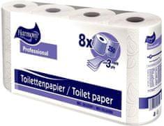 Harmony Professional Toaletní papír Harmony Professional 3vrstvy 250 útržků bílý