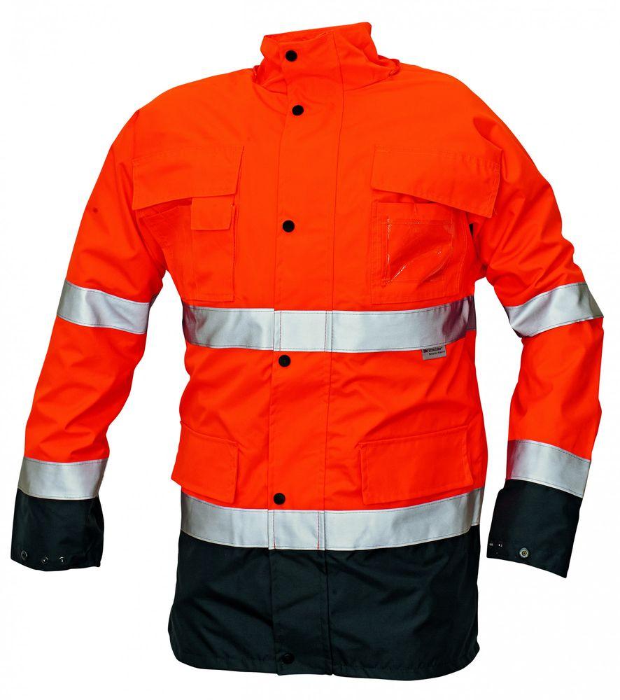 Cerva Pánská nepromokavá zimní reflexní Hi-Vis bunda Malabar 2v1 oranžová XXXL