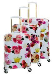 CAVALET Sada kufrů Rose Flower White 3-set
