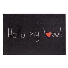 FLOMA Vnitřní čistící vstupní rohož Mondial Hello my love - délka 50 cm a šířka 75 cm