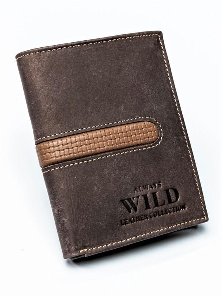 Always Wild Pánská kožená peněženka Sam hnědá
