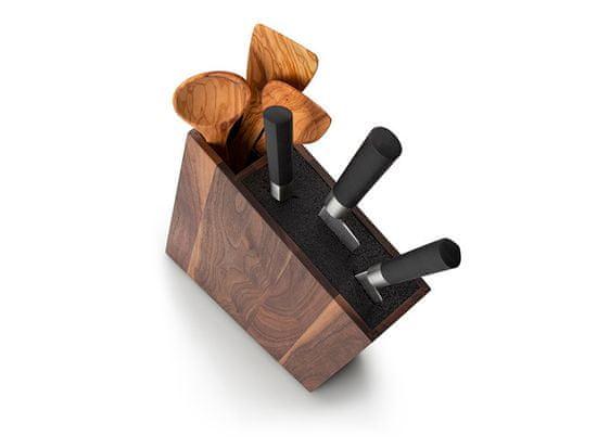 Continenta C4251 Block / stojak na noże z wkładką flexi i przegrodą, ukośny, orzech 31x8x24,5cm