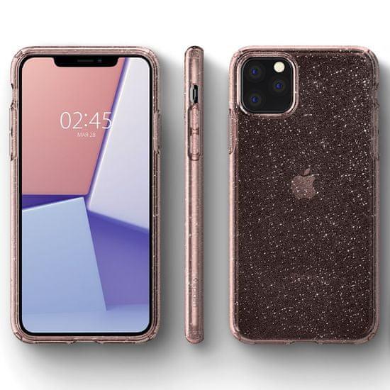 Spigen Liquid Crystal ovitek za iPhone 11 Pro, Glitter Rose