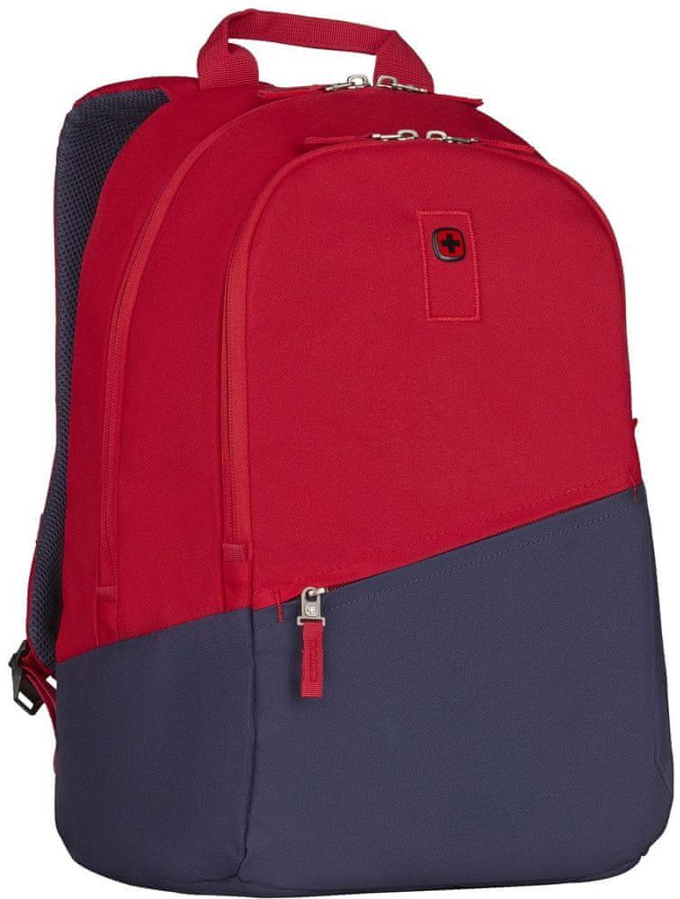 """Wenger CRISTO - 17"""" batoh na notebook, červený/navy (606478)"""