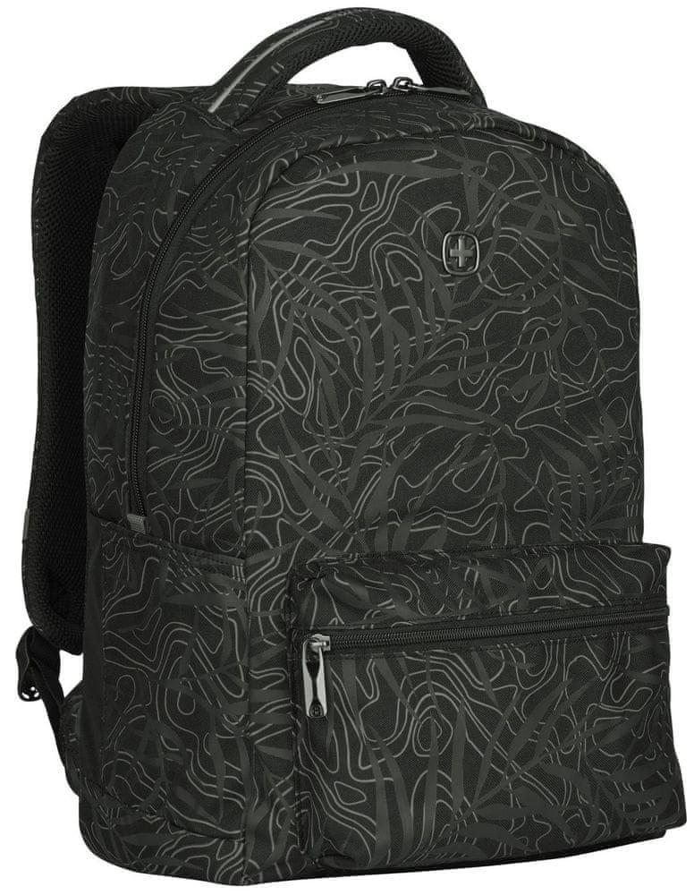 "Wenger COLLEAGUE - 16"" batoh na notebook, černý fern print (606466)"