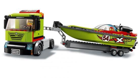 LEGO City Great Vehicles 60254 Kamion za prijevoz trkaćeg čamca