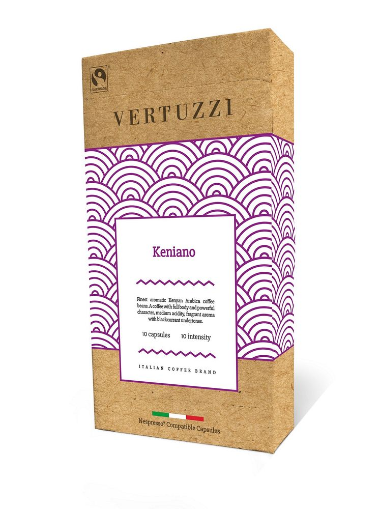 Vertuzzi Keniano – kompostovatelné kapsle pro kávovary Nespresso, 10 ks