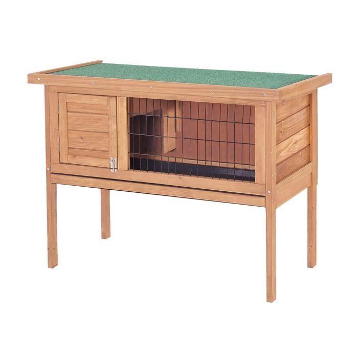 Cdiscount dřevěná králíkárna 91,5x45x70 cm