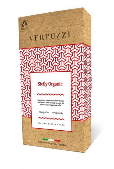 Vertuzzi Sicily Organic – Nespresso kávégépbe alkalmas komposztálható kapszula, 10 db