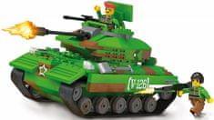 Blocki Blocki stavebnice MyArmy tank na poušti kompatibilní 253 dílů