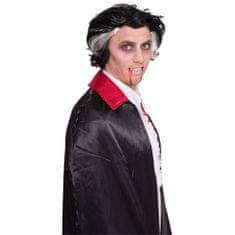 Paruka černá s bílimi pruhy / Upír - Drakula - vampír - Halloween