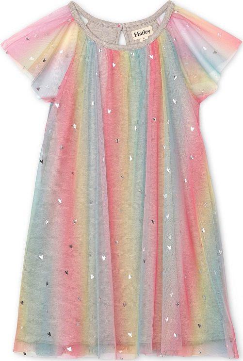 Hatley dívčí šaty 98, růžová