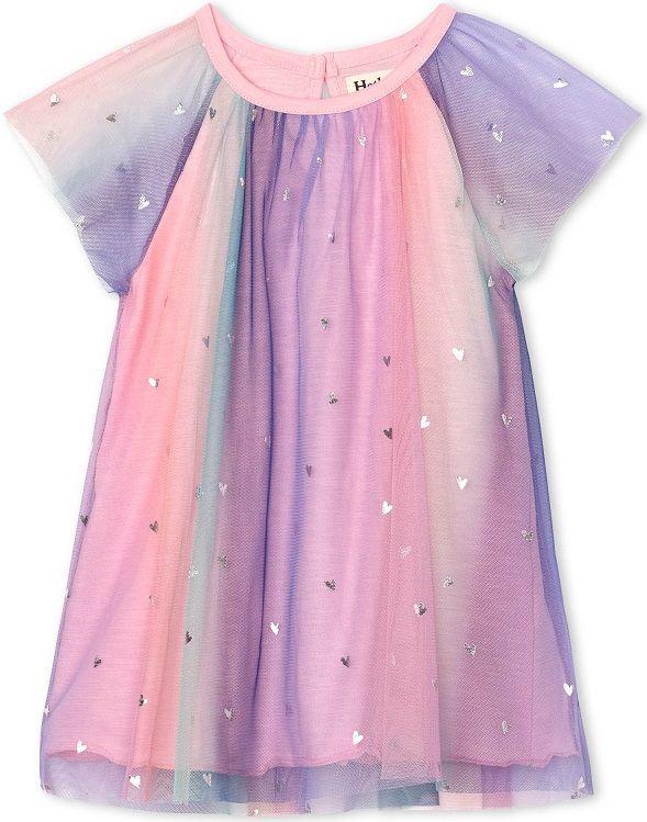 Hatley dívčí šaty 74-79, růžová