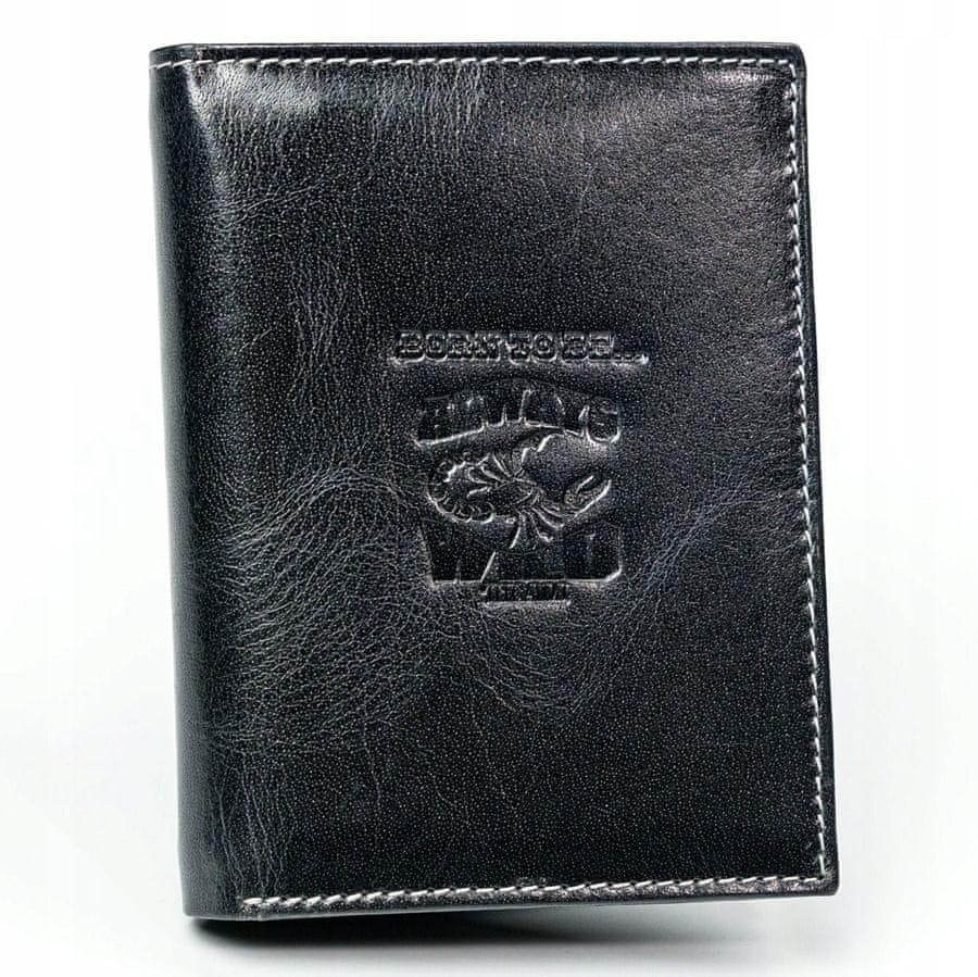 Always Wild Pánská kožená peněženka Jim, černá