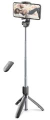 CellularLine Selfie tyč Freedom s funkcí tripodu, černá, BTSELFIESTICKFREEK