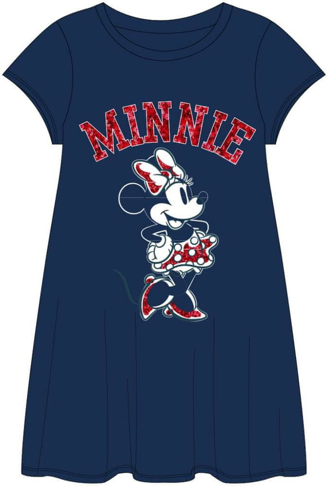 Disney dívčí šaty Minnie 164 modrá