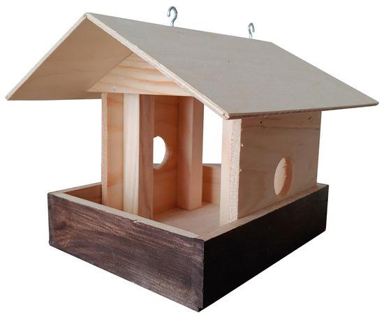 Portoss hranilica za ptice, drvena, 23 x 25 x 20 cm