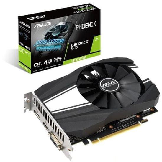 Asus Phoenix OC GeForce GTX 1650 SUPER grafična kartica, 4 GB GDDR6 (90YV0E40-M0NA00)