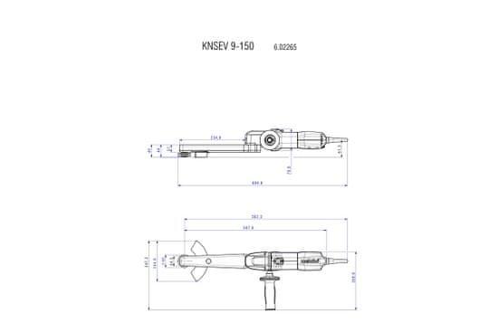 Metabo KNSE 9-150 Set premi polirnik (602265500)