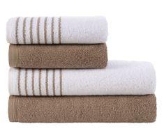 Tip Trade Sada froté ručníků a osušek Davos Hnědá Oříšková
