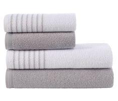 Tip Trade Sada froté ručníků a osušek Davos Šedá