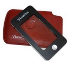 Viewlux Lupa s koženým pouzdrem 2,5×/5×, s osvětlením