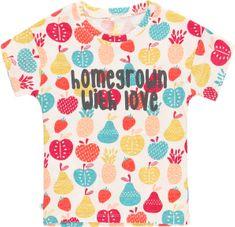 Boboli dívčí tričko Organic Fruit 162 vícebarevná