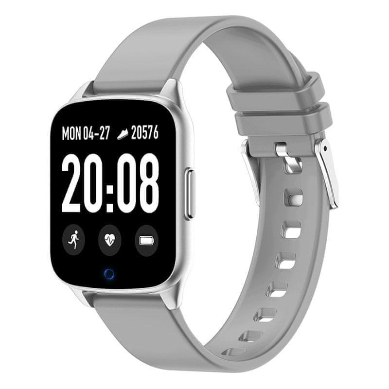 Printwell chytré hodinky F-002, šedé