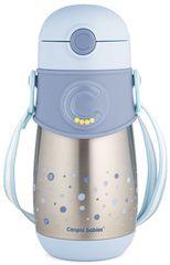 Canpol babies Termopalack szilikon szívószállal 300 ml kék