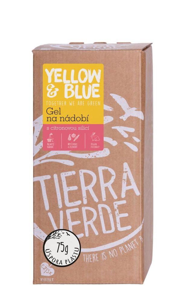 Yellow & Blue Gel na nádobí z mýdlových ořechů 2 l