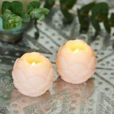 SIRIUS LED voskové sviečky 7cm, set 2 kusy, ružová