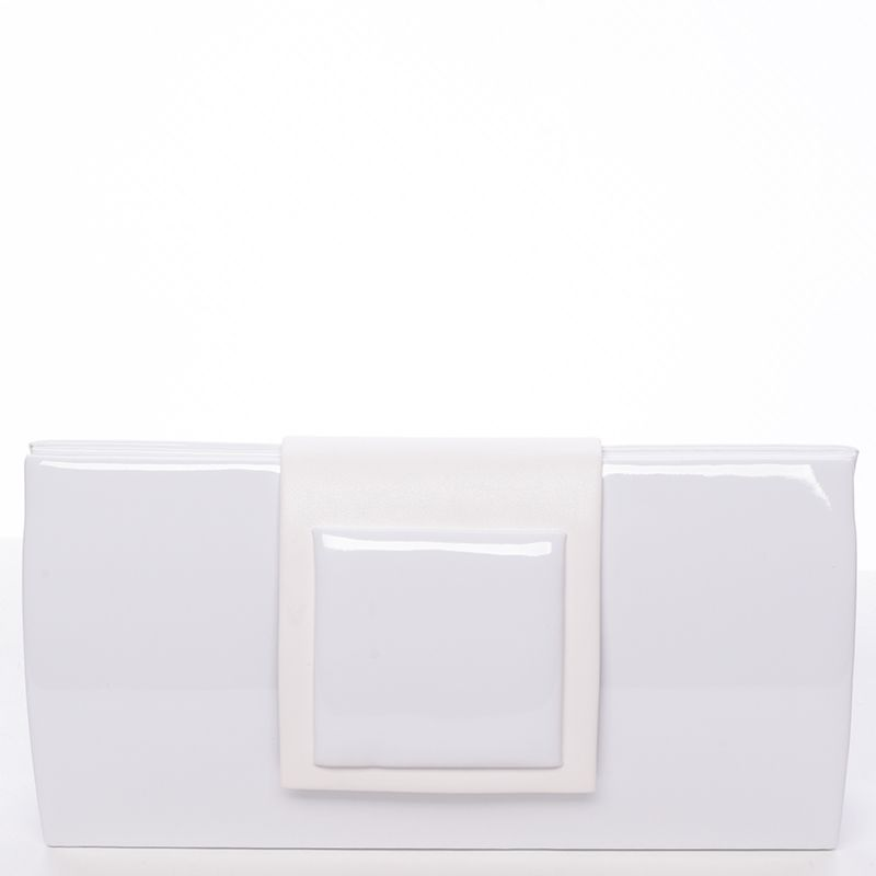 Maggio Luxusní kabelka a psaníčko Alex, bílá lakovaná