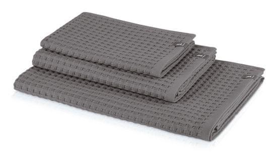 Möve PIQUÉE ručník s waflovým vzorem 40x70 cm světle šedý