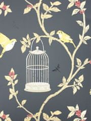 NINA CAMPBELL BIRDCAGE WALK 05 ozadje iz kolekcije BIRDCAGE WALK