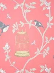 NINA CAMPBELL BIRDCAGE WALK 04 ozadje iz kolekcije BIRDCAGE WALK