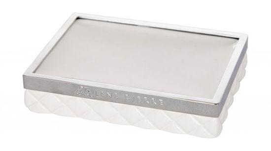 Lene Bjerre PORTIA bela trdna milna blazinica s srebrnimi oblogami
