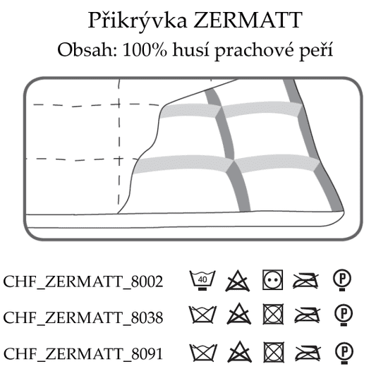 Ch. Fischbacher Prešite odeje ZERMATT 200 x 220 cm v svileni paisley, celo leto