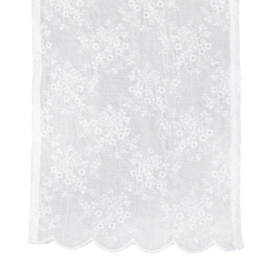 Lene Bjerre Haftowany bieżnik na stół CATIE biały, 50 x 140 cm
