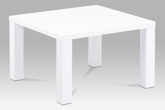 Artium konferenčný stolík, 80x80x50cm, vysoký lesk biely AHG-501 WT
