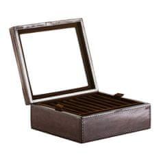 Balmuir Kožená krabička na prstýnky a manžetové knoflíky GREGOR, dark brown