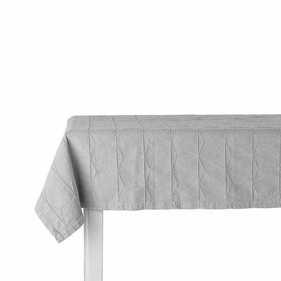 Lene Bjerre Bawełniany obrus AVIA szary 140 x 320 cm
