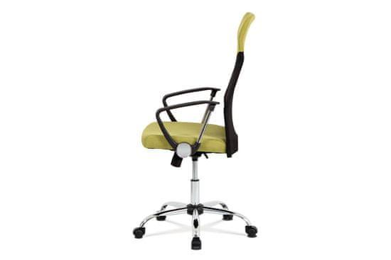 Artium kancelárske kreslo, látka čierna/zelená KA-E301 GRN