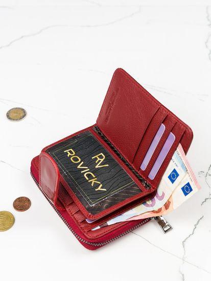Lorenti Lakovaná menší kožená dámská peněženka Ina, červená